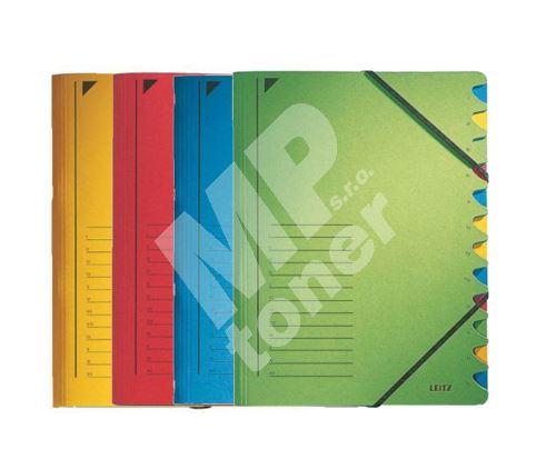 Třídící desky Leitz s gumičkou, 12 přihrádkové 5