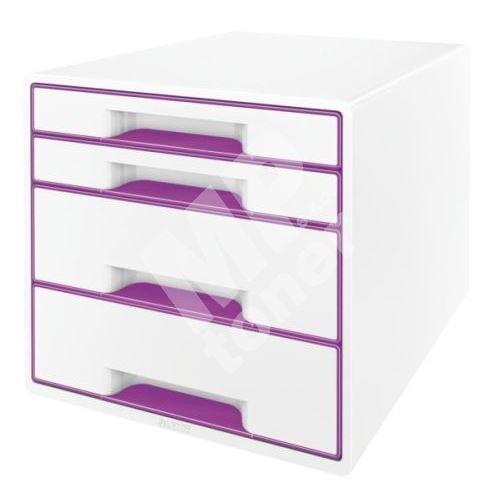 Zásuvkový box Leitz WOW, 4 zásuvky, purpurový 1