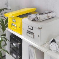 Krabice Click & Store, žlutá, lesklá, A4, LEITZ 2