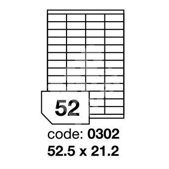 Samolepící etikety Rayfilm Office 52,5x21,2 mm 100 archů R0100.0302A 1