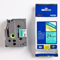 Páska do štítkovače Brother TZ-751 24mm černý tisk/zelený podklad