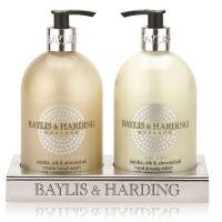 Baylis & Harding Tekuté mýdlo + Mléko na ruce - Jojoba, Hedvábí a Mandlový olej, 2x500ml