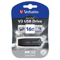 16GB Verbatim Store'n'Go V3, USB flash disk 3.0, 49172, černá