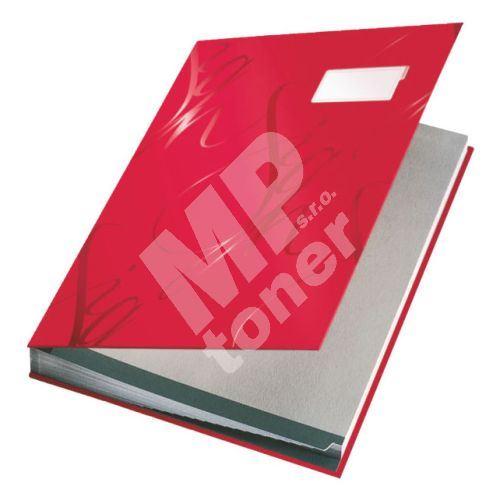 Podpisová kniha designová Leitz, červená 1
