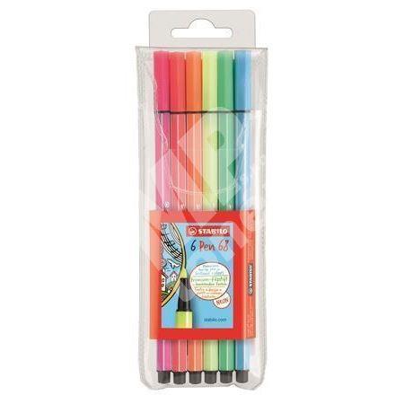Fixy Pen 68, 6 neonových barev, 1mm, STABILO 1