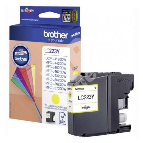 Inkoustová cartridge Brother LC-223Y, MFC-J4420DW, MFC-J4620DW, yellow, originál