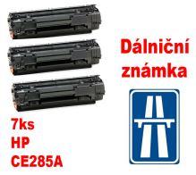 7ks kompatibilní toner HP CE285A MP print + dálniční známka