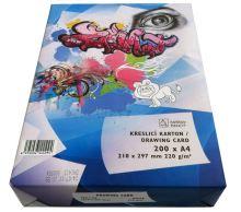 Papír kreslící karton A4 220g/bal 200l