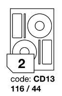 Samolepící etikety Rayfilm Office průměr 116/44 mm 300 archů R0103.CD13D