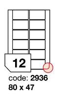 Samolepící etikety Rayfilm Office 80x47 mm 300 archů R0103.2936D