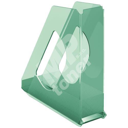 Stojan na časopisy Esselte Colour Ice, zelená, plastový, 68 mm 1
