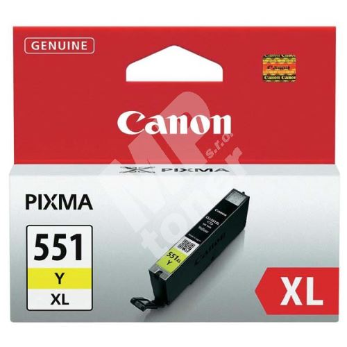 Cartridge Canon CLI-551Y XL, yellow, 6446B001, originál 1