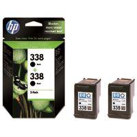 Inkoustová cartridge HP CB331EE, 2xC8765EE, No.338, black, 2-Pack, originál