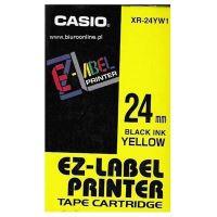 Páska do tiskárny štítků Casio XR-24YW1 24mm černý tisk/žlutý podklad originál