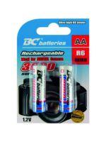 Baterie BC R6 3000 Ah, nabíjecí Nickel Metal Hydride (NiMH) tužková 1,2V baterie