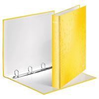Kroužkový pořadač Wow, žlutá, lesklý, 4 kroužky, 40 mm, A4, karton, LEITZ 2