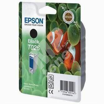 Inkoustová cartridge Epson C13T026401 černá, originál