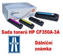 Sada tonerů HP CF350A-3A, CMYK, MP print + dálniční známka