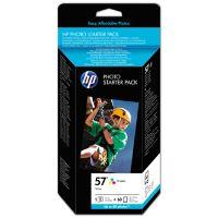 Inkoustová cartridge HP C6657xx + HP Photo Paper 10 x 15 cm, Q7942AE, color, originál