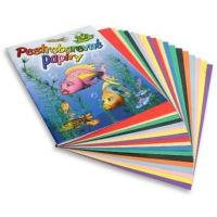 Barevné papíry A4 mix 1bal/20 listů