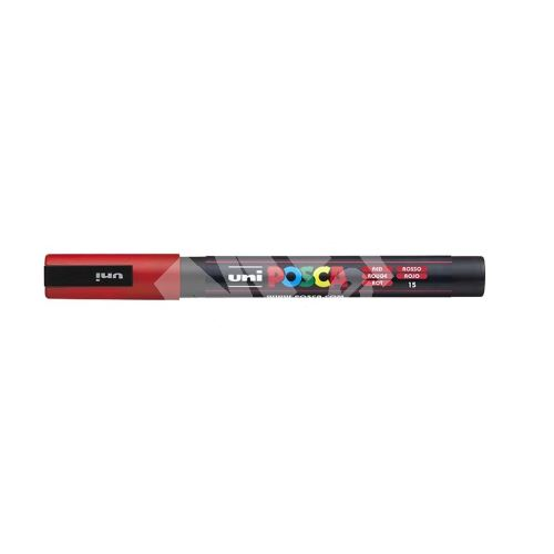 Uni Posca PC-3M akrylový popisovač, 0,9-1,3 mm, červený 1