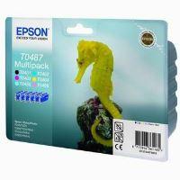 Inkoustová cartridge Epson C13T048740, R200, 300, 320, černá + barvy PACK originál