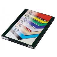 Přední fólie pro kroužkovou vazbu PRESTIGE, A4, 200 mic, zelená, 100 ks