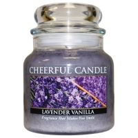 Cheerful Candle Vonná svíčka ve skle Levandule a Vanilka - Lavender Vanilla, 16oz