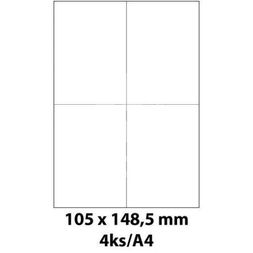Print etikety Emy 105x148,5 mm, 4ks/arch, 100 archů, samolepící 1