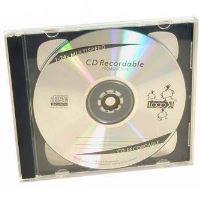 Box na 2 ks CD, průhledný, černý tray
