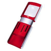 Lupa Wedo s LED světlem, červená