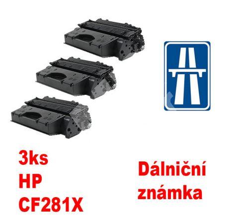 3ks kompatibilní toner HP CF281X MP print + dálniční známka 1