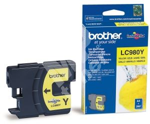 Inkoustová cartridge Brother LC-980Y, DCP 145C, DCP165C, yellow, originál