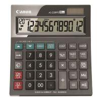 Kalkulačka Canon AS-220RTS, šedá, stolní, dvanáctimístná