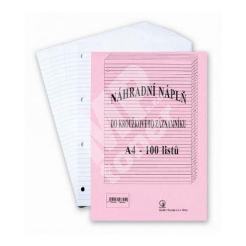 Náhradní vložka do karis bloku A4 čtvereček, 100 listů