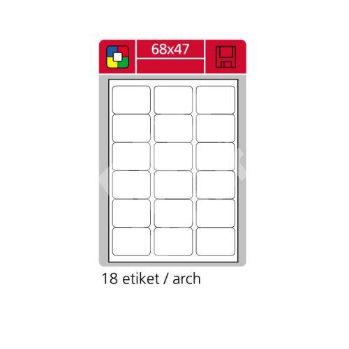 Samolepící etikety SK LABEL A4 68 x 47 červené, 100 archů 1