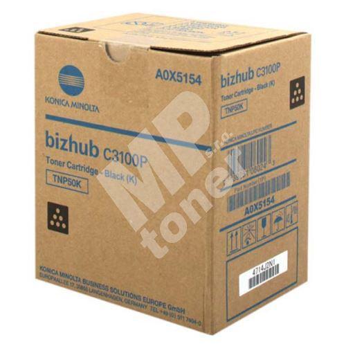 Toner Konica Minolta TNP-50K, A0X5154, black, originál 1