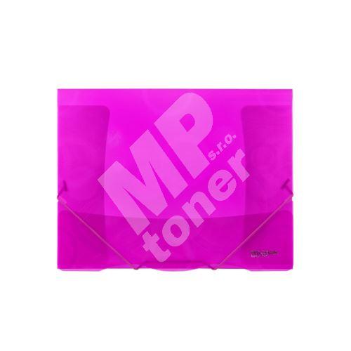 Složka 3 klopy s gumou Neo Colori, růžová 2