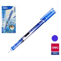Roller inkoustový Deli Think EQ300-BL modrý