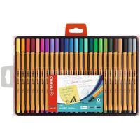Linery STABILO Point 88, 0,4mm, 25 různých barev
