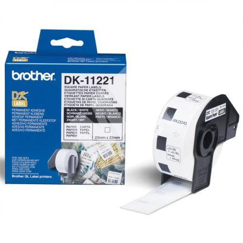 Štítky papírové Brother 23mm x 23mm, bílá, 1000 ks, DK11221 1