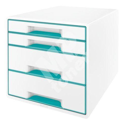 Zásuvkový box Leitz WOW, 4 zásuvky, ledově modrý 1