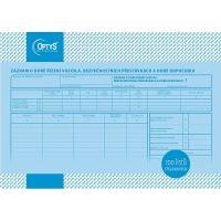 Záznam o době řízení vozidla a bezpeč. přestávkách A4, číslovaný, 100 listů, OP1166 1