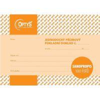 Příjmový doklad A6, jednoduchý, samopropisovací, 100 listů, OP1302
