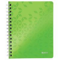 Blok na psaní Leitz WOW A5, linkovaný, drátěná vazba s PP deskami, zelený