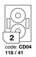 Samolepící etikety Rayfilm Office průměr 118/41 mm 300 archů R0103.CD04D