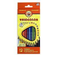 Pastelky trojhranné Triocolor 3132, 12 barev