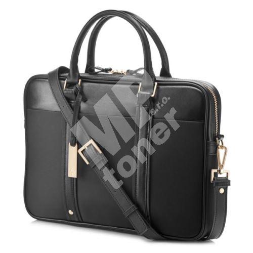 Taška na notebook HP Ladies 14, dámská, černá z kůže a nylonu