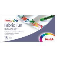 Zažehlovací voskovky na textil Pentel Arts Fabric Fun PTS-15