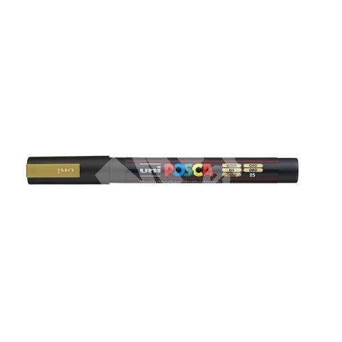Uni Posca PC-3M akrylový popisovač, 0,9-1,3 mm, zlatý 1